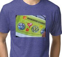 Pea Green Hippie Bus Tri-blend T-Shirt