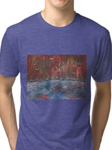 The Burning Forest in winter Tri-blend T-Shirt