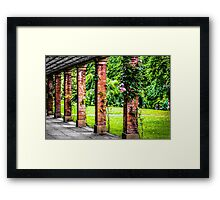 Colonnades - Valley Gardens Harrogate Framed Print