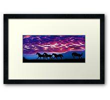 Mustang Run Framed Print