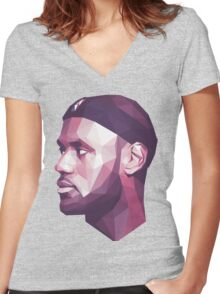 Le Bron James Women's Fitted V-Neck T-Shirt