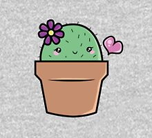 Cute little Girl Cactus With Flower T-Shirt