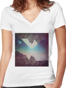 Sneak A Picture. Women's Fitted V-Neck T-Shirt