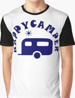 Happy Camper - RV Travel Trailer Camping / Boondocking Graphic T-Shirt