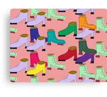 Funny shoe pattern Canvas Print