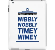 Doctor Who Blue Tardis Typography Design Whovian Quote iPad Case/Skin