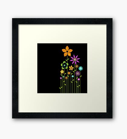 Abstract Cuteness  Framed Print