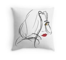 Red My Lips Throw Pillow