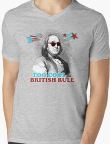 Too Cool for British Rule Mens V-Neck T-Shirt