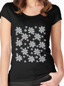 Spring Grey Women's Fitted Scoop T-Shirt