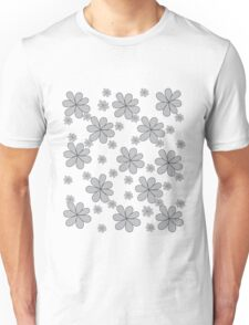 Spring Flowers | Black and Grey Unisex T-Shirt