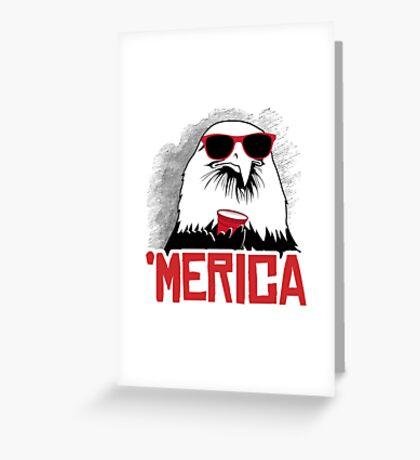 'Merican Eagle Greeting Card