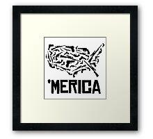 'Merican guns Framed Print