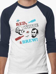 Red White and Brew Men's Baseball ¾ T-Shirt