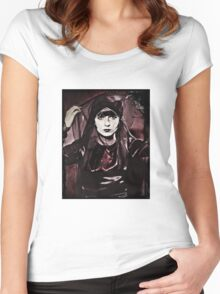 Louise Brooks in Purple Veils Women's Fitted Scoop T-Shirt