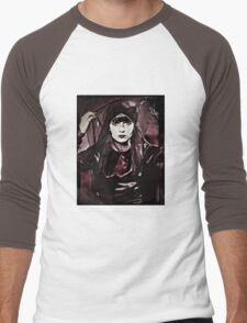Louise Brooks in Purple Veils Men's Baseball ¾ T-Shirt