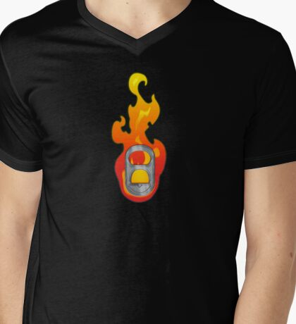 Sparked / The Flame - Pulltab Mens V-Neck T-Shirt