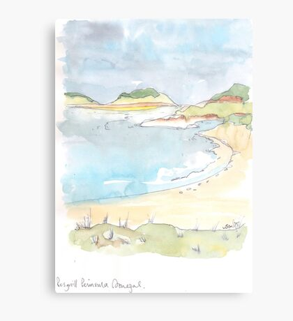Rosguil Peninsula, Donegal, Ireland Metal Print