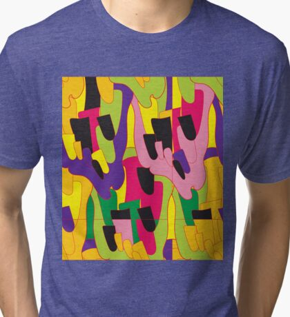Abstract bright colorful vector pattern Tri-blend T-Shirt