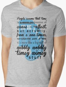Time is a big ball of wibbly wobbly time wimey stuff Mens V-Neck T-Shirt