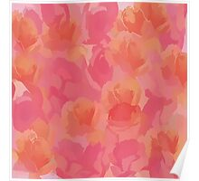 Soft Rose Bouquet Abstract Poster