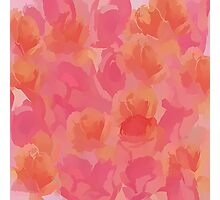 Soft Rose Bouquet Abstract Photographic Print