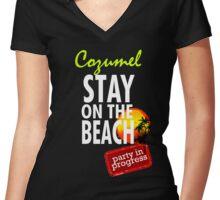 Cozumel  Women's Fitted V-Neck T-Shirt