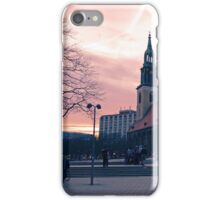 Berlin Sunset | St. Mary's Church Alexanderplatz iPhone Case/Skin