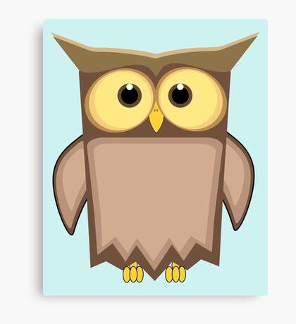 Funny toon owl Canvas Print