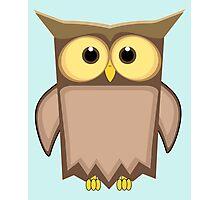 Funny toon owl Photographic Print