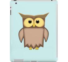 Funny toon owl iPad Case/Skin