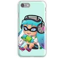 Squid Kid-Teal iPhone Case/Skin