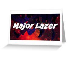 Major Lazer Header Greeting Card