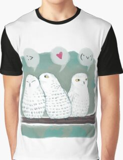 Snowy Owls Graphic T-Shirt