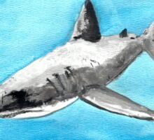 Watercolour Shark Sticker