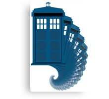 Tardis moving through time Canvas Print