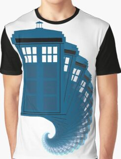 Tardis moving through time Graphic T-Shirt