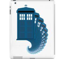 Tardis moving through time iPad Case/Skin