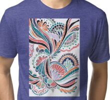 Abstract Floral Tangles Tri-blend T-Shirt