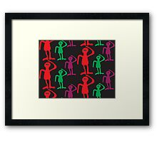 Сolorful men abstract pattern  Framed Print