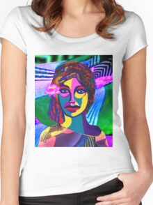 RAINBOW WOMAN Women's Fitted Scoop T-Shirt