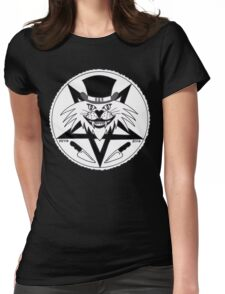 JACK THE RIPPER CULT CAT Womens Fitted T-Shirt