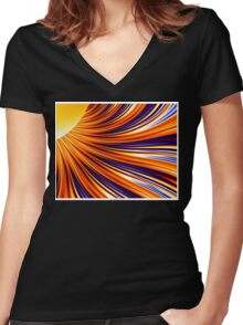 Color & Form Abstract - Solar Gravity & Magnetism 3 Women's Fitted V-Neck T-Shirt