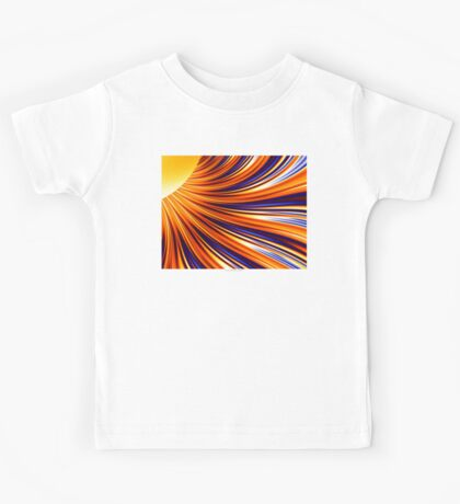 Color & Form Abstract - Solar Gravity & Magnetism 3 Kids Tee