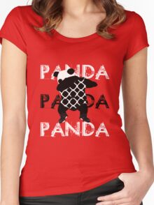 Panda x3 Women's Fitted Scoop T-Shirt