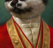 The Hermitage Court Waiter Cat Sticker
