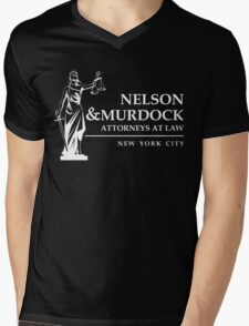 Nelson & Murdock Attorneys Mens V-Neck T-Shirt