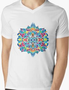 Caribbean inspired  watercolor mandala pattern Mens V-Neck T-Shirt