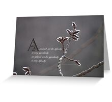 Quote by Winston Churchill Greeting Card