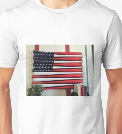 America's pass time is baseball....and today is Flag Day T-Shirt